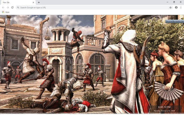 Assassin's Creed: Brotherhood New Tab Theme