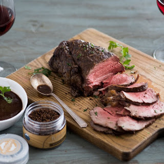 Chateaubriand with Red Wine Shallot Sauce Reduction and Fusion® Espresso Brava Salt Recipe
