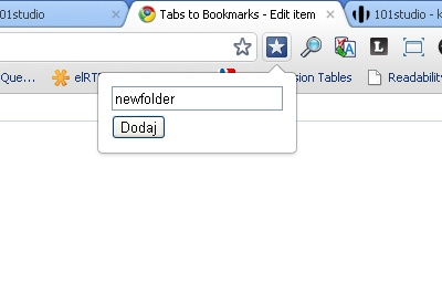 Tabs to Bookmarks
