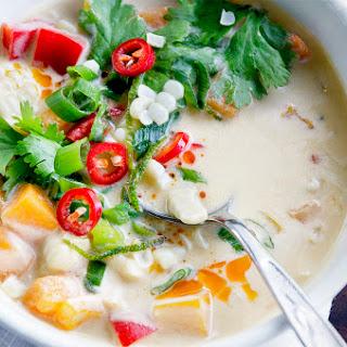 Thai Pumpkin Corn Soup.