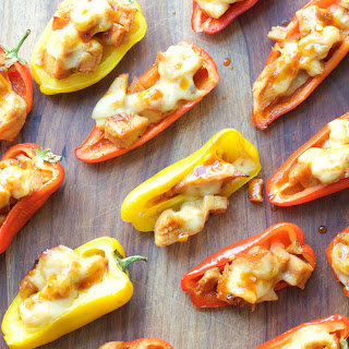 Honey Chipotle Chicken and Gouda Stuffed Sweet Peppers