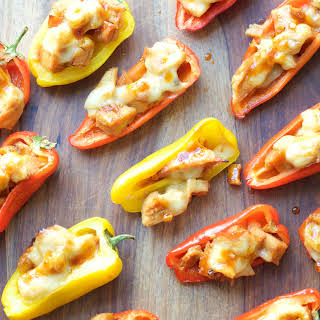 Honey Chipotle Chicken and Gouda Stuffed Sweet Peppers.