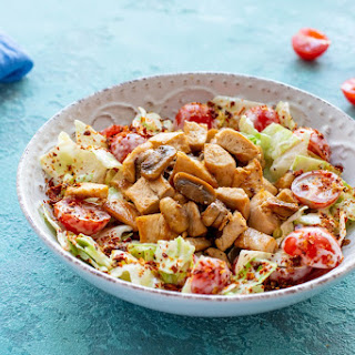 Warm Salad with Mushrooms and Chicken Recipe