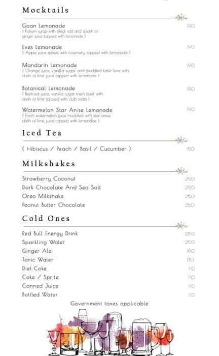 Verbena-Brewpub And Sky Garden menu 1