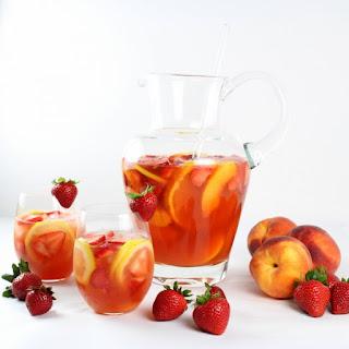Strawberry Peach Rosé Sangria Recipe