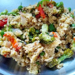 Foxtail millet Cauliflower & Broccoli rice.
