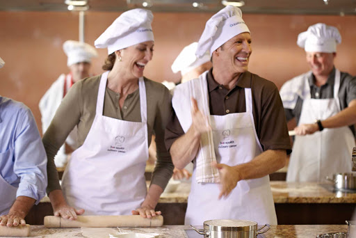Oceania-culinary.jpg - Pick up a few new cooking techniques in the Culinary Center on your Oceania cruise.