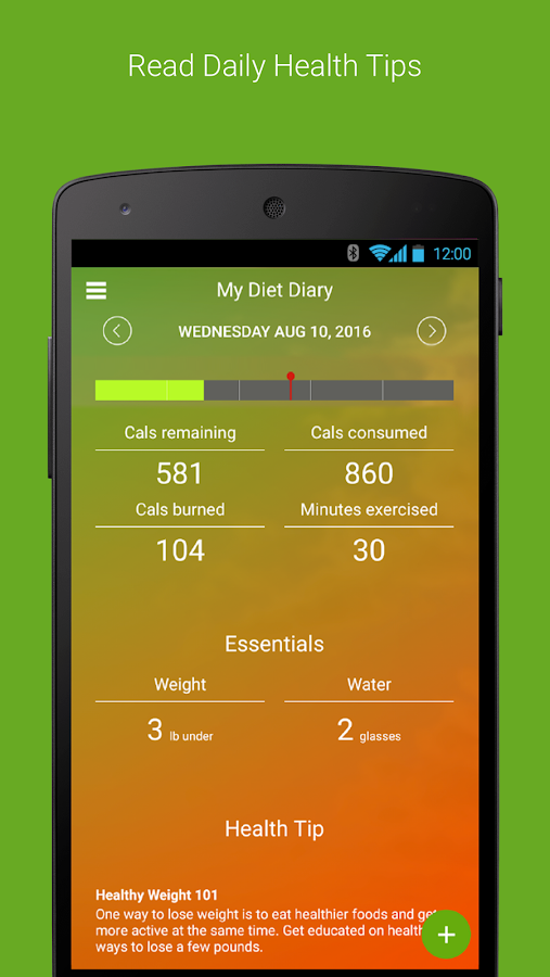 My Diet Diary Calorie Counter- screenshot