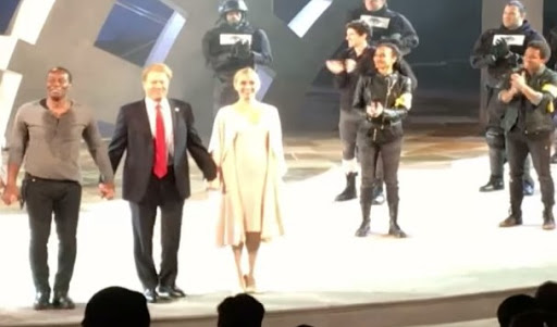 Tax-supported stage production depicts Trump's death