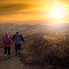 Trek by Apollo Reyes - People Street & Candids ( hills, jog, grass, sunset, trail, walk, sun,  )