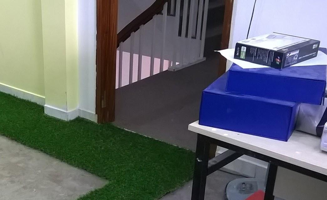 đột ngột với tác dụng của thảm cỏ nhựa tại nhà trẻ