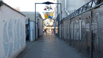 Photo: Contraires en Harmonie – Kinetisches Kunstwerk aus vier Toren Martine Mallet (2006;) Rödinghauser Straße