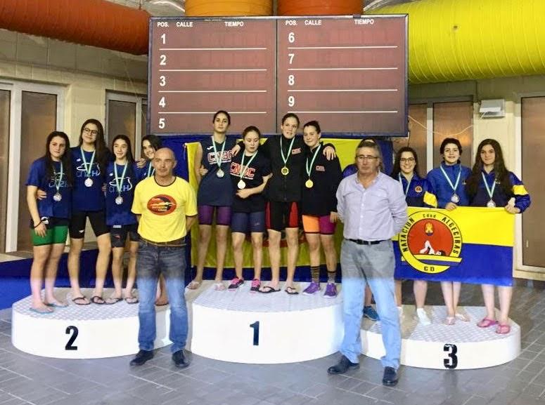 La representación del CD Natacion Ciudad de Algeciras en el VI Trofeo Ciudad de Cádiz logra su objetivo