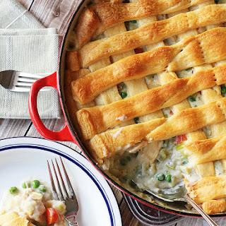 Chicken Pot Pie with Crescent Roll Crust Recipe