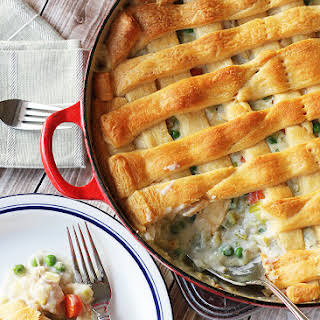 Chicken Pot Pie with Crescent Roll Crust.