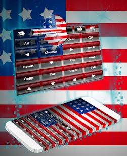 American For GO Keyboard - náhled