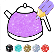 Kitchen Coloring Book With Animation - Glitter