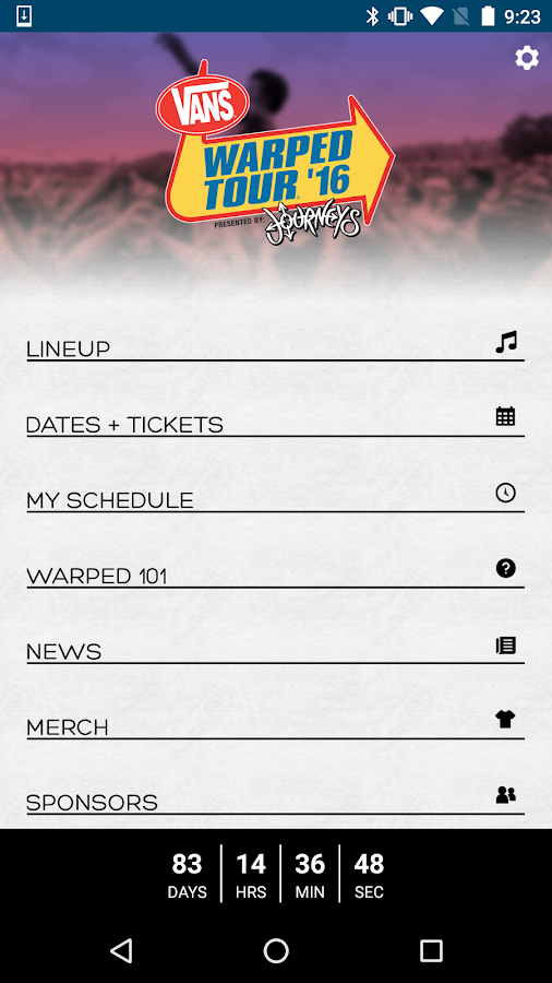 Vans Warped Tour Official App- screenshot