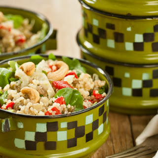 Lentil and Quinoa Salad with Cashews