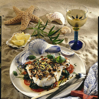 Halibut with Olive Crust
