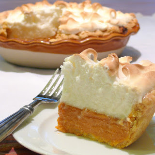 Sweet Potato Pie with Marshmallow Meringue.