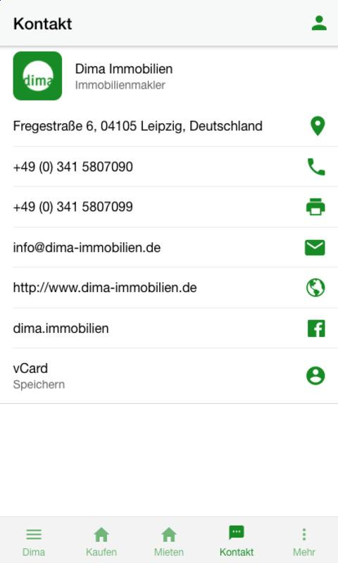 Dima Immobilien – Screenshot