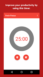 Brain Focus Productivity Timer Screenshot