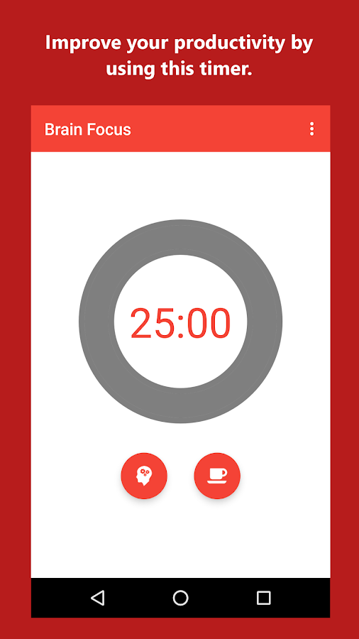Brain Focus Productivity Timer- screenshot