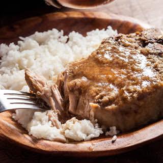 Slow Cooker Braised Lemongrass Pork Chops.