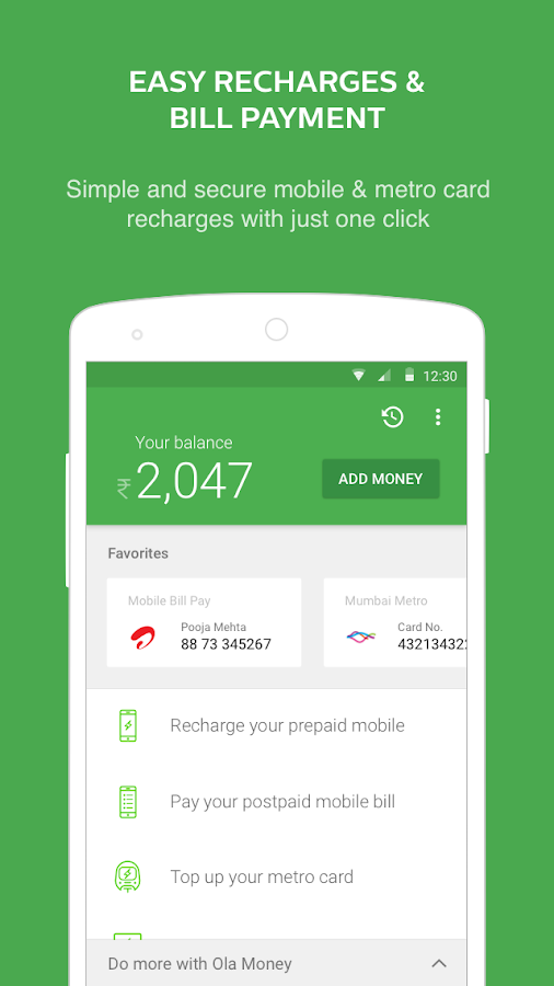 Screenshots of Ola Money for Android