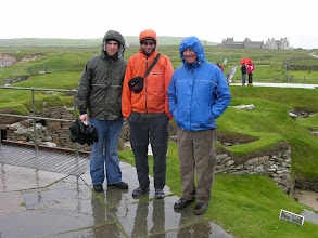 Photo: Enjoying summer at Skara Brae: Scott, Mick and Greg