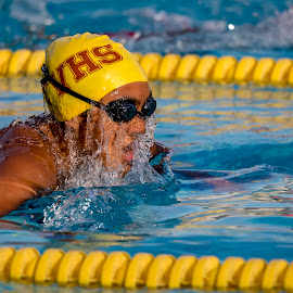 Wet by Mark Ritter - Sports & Fitness Swimming ( tvhs, breaststroke, macro, team, competition, swimmer )