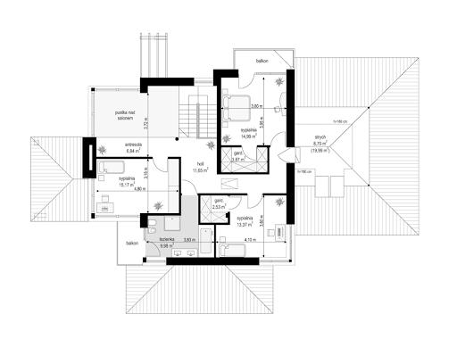 Dom z widokiem 6 - Rzut piętra