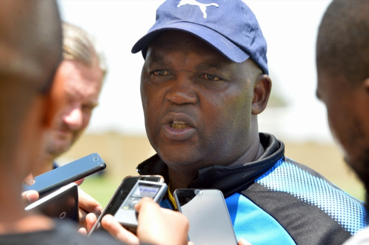 Mamelodi Sundowns coach Pitso Mosimane during the Mamelodi Sundowns media open day at Chloorkop on January 12, 2018 in Pretoria, South Africa.