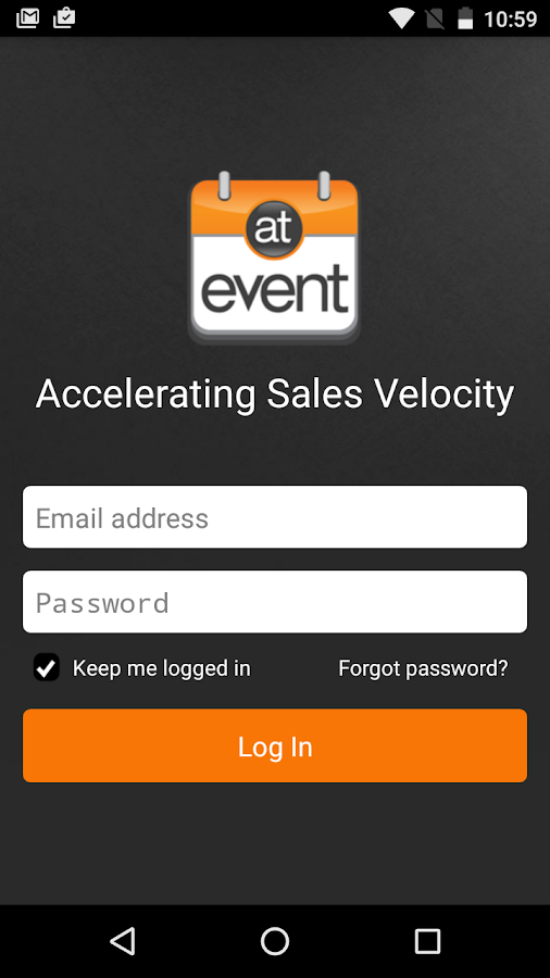 atEvent- screenshot