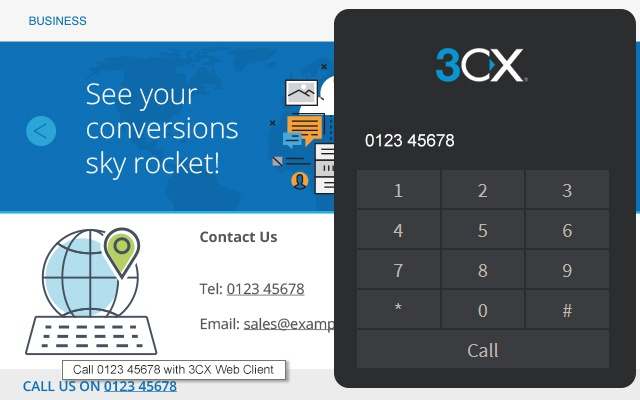 3CX Click to Call