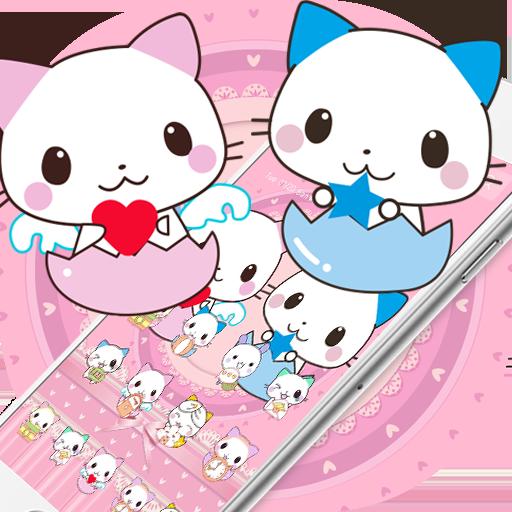 Cute Cartoon Cat Love Theme On Google Play Reviews Stats