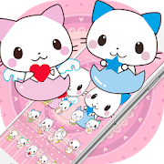 Cute Cartoon Cat Love Theme