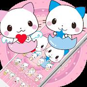 Cute Cartoon Cat Love Theme