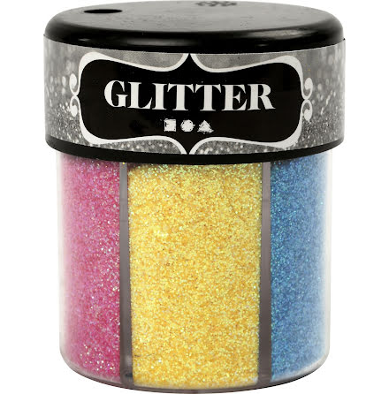 Glittermix pastell 13g 6färger