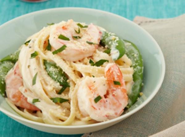 Creamy Chive & Onion Shrimp Linguine Recipe