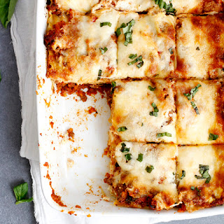 Lighter Lasagna Bolognese.