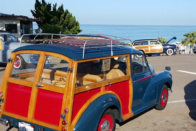 """1967 Morris Minor """"Woodie"""" Traveller Hire San Diego"""
