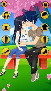 Kissing Dressup For Girls - Cute Couple Makeover - náhled