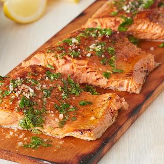 Herbed Cedar Grilled Salmon Recipe