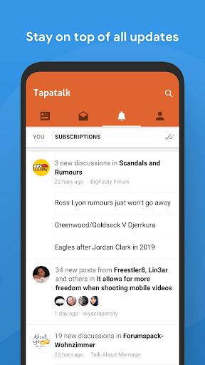 Screenshot for Tapatalk Pro - 200,000+ Forums in Hong Kong Play Store
