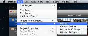 Image result for iMovie import videos