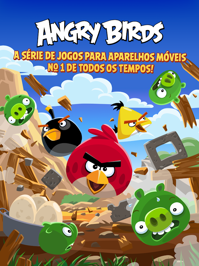 Angry Birds: captura de tela