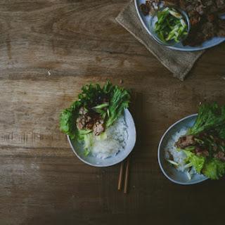 Roast Duck Lettuce Wrap.