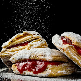 Pastelillo by Hiram Christian - Food & Drink Candy & Dessert ( pastelillo, guava, food, powder, pastry, puff, guayaba, sugar )